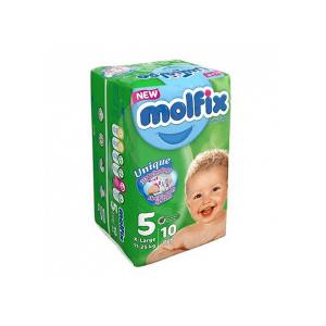 پوشک مولفیکس سایز 5مخصوص کودکان 11 تا 25 کیلوگرم 10عددی