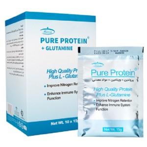 پیور پروتئین و گلوتامین 10 عددی  ( شکلاتی )