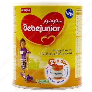 شیر خشک ببجونیور میلوپا با طعم وانیل ۴۰۰ گرم