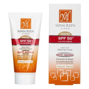 کرم ضد آفتاب کم رنگ SPF50 مای مناسب پوست های معمولی و خشک ۵۰ میلی لیتر