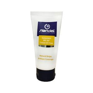 کرم ضد آفتاب فاقد چربی رنگی بژ طبیعی +SPF50 ناندل 50 میلی لیتر