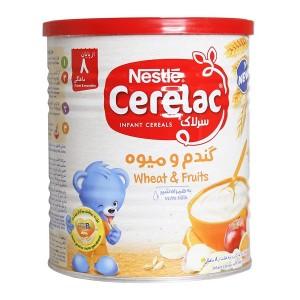 سرلاک گندم و میوه به همراه شیر نستله مناسب کودکان از پایان 8 ماهگی