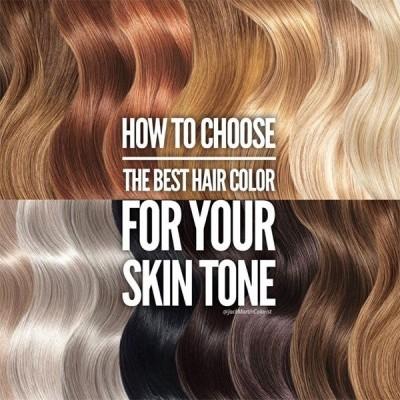 چگونه بهترین رنگ مو را برای رنگ پوست خود انتخاب کنیم
