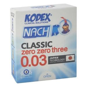 کاندوم فوق العاده نازک کدکس مدل ۰.۰۳ بسته 3عددی