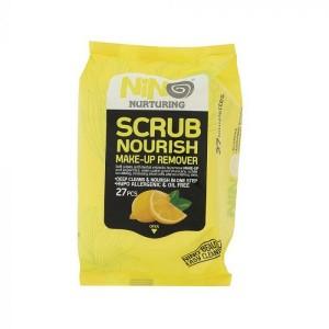 دستمال مرطوب پاک کننده آرایش نينو مدل Scrub Nourish بسته 27 عددی